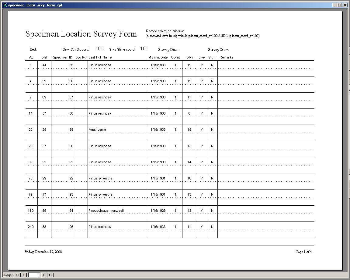 Survey Forms in Excel